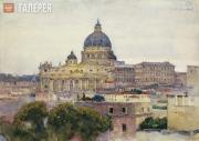 Surikov Vasily. St. Peter's Basilica in Rome. 1884