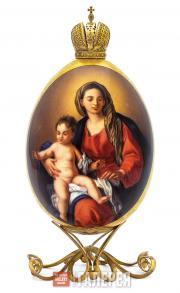 Яйцо пасхальное «Мария с Младенцем»