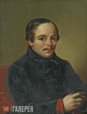 Unknown artist. Portrait of Mikhail Lermontov. 1840s