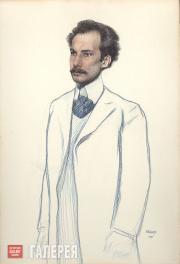 Bakst Léon. Portrait of Andrei Bely. 1906