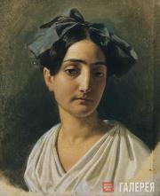 Ivanov Alexander. Portrait of Vittoria Caldoni. 1834