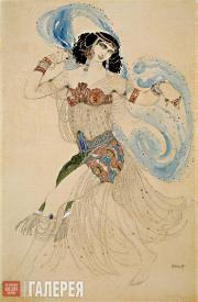 "Léon BAKST. Salomé. Sketch of the costume for the production of Oscar Wilde's ""S"