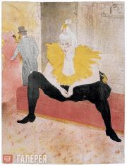 Toulouse-Lautrec Henri. The Sitting Clowness (Mademoiselle Cha-U-Ka-O). 1896