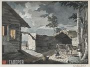 Aivazovskiy Ivan. Peasant Yard. Mid-1830s