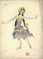 А.Я. Головин, Г.Л. Теляковская. Эскиз женского костюма для постановки оперы