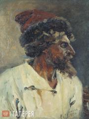 Surikov Vasily. Strelets in a hat. Study. 1879