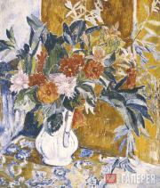 Н.С.Гончарова. Георгины. 1906