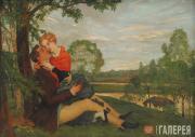 Somov Konstantin. The Lovers. 1920