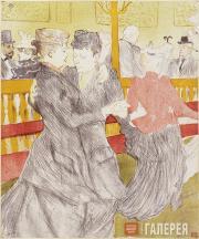 Toulouse-Lautrec Henri. The Dance at the Moulin Rouge. 1897