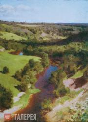 Polenov Vasily. The River Vorya (a sketch). 1881