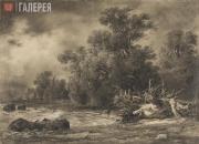 Шишкин Иван Иванович. Дубки под Сестрорецком. 1857