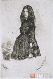 Whistler James McNeill. Annie. Image from the French Set. 1857–1858