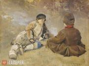 Vinogradov Sergei. Peasant boys. 1896