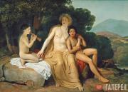 Аполлон, Гиацинт и Кипарис, занимающиеся музыкой и пением. 1831–1834