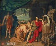Приам, испрашивающий у Ахиллеса тело Гектора. 1824