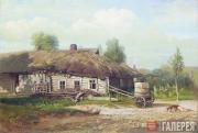 Savrasov Alexei. Landscape with a Wooden Hut. 1866