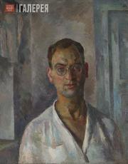 Falk Robert. Self-portrait in White Shirt. 1924