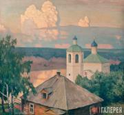 Germashev Mikhail. Landscape with a Church
