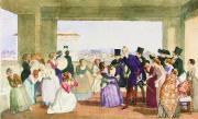 Октябрьский праздник в Риме. Сцена в лоджии (приглашение к танцу). 1842