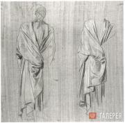 А.А. ИВАНОВ. Драпировка для фигуры ближайшего к Христу. 1833–1850-е