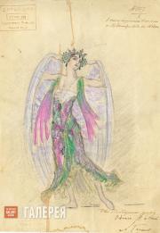 "Dyachkov Vasily. Sketch of a costume for Pyotr Tchaikovsky's ballet ""Swan Lake""."