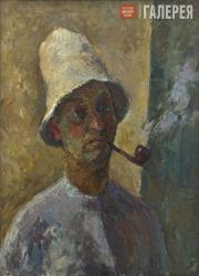 Falk Robert. Self-portrait with Pipe. 1935