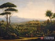 Matveyev Fyodor. A View in the Environs of Tivoli. 1819