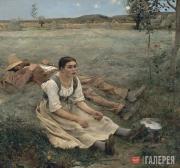 Жюль БАСТЬЕН-ЛЕПАЖ.  Сенокос. 1877