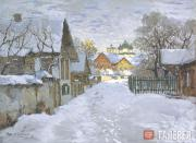 К.И.Горбатов. Зимний вечер. Псков. 1910
