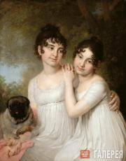 Vladimir  Borovikovsky. Portrait of the Princesses Yekaterina  Kurakina  and Ale