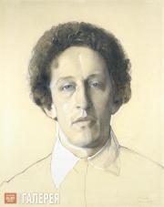 Somov Konstantin. Portrait of the Poet Alexander Blok. 1907