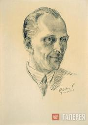 Dobuzhinsky Mstislav. Portrait of Doctor Kamenev (France). 1938