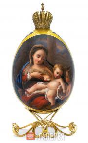 Яйцо пасхальное «Мадонна с Младенцем и ангелом»