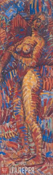 Volkov Alexander. Nude (Striped). 1915