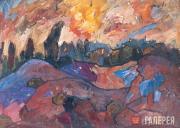 Горный пейзаж. 1917