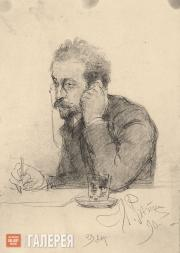 Ilya REPIN (?). Portrait of a Man (Portrait of Ivan Leontiev (Shcheglov)). 1890
