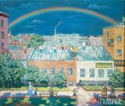 Nikolai KRYMOV. Moscow Landscape. Rainbow. 1908
