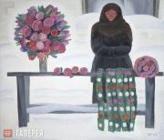 Яблонская Татьяна Ниловна. Бумажные цветы. 1967