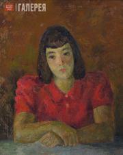 Falk Robert. Portrait of Tatiana Selvinskaya (in red). 1944