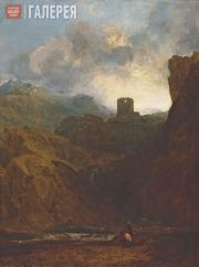 J.M.W. Turner (1775-1851). Dolbadarn Castle, North Wales. 1800