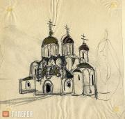 Shchusev Alexei. Sketch of the Church of St. Alexius in Tsarskoye Selo