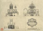 Draft design of the Church of St. Alexius in Tsarskoye Selo. South and west faça