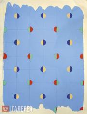 Ильязд (Зданевич Илья).  Образец рисунка ткани. Kонец 1920-х