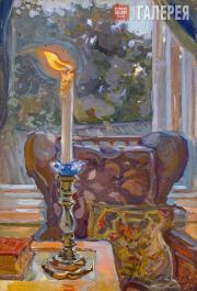 Якунчикова Мария. Свеча. Задувает. 1897