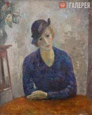 Falk Robert. Lady in a Hat. (Portrait of Maria Petrovna Perevoshchikova). 1935