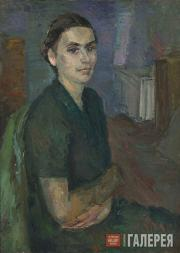 Falk Robert. Portrait of Wife at the Workshop. 1939-1940