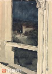 Yakunchikova Maria. View from a window at night. [1890s]