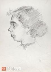 Falk Robert. Portrait of Olga Severtseva (left-side view). 1951