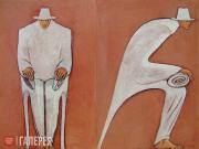 Гранки Андреа. Диванный путешественник. Диптих. 2004–2005
