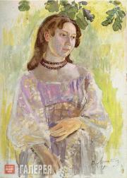 Борисов-Мусатов Виктор. Девушка в ожерелье. 1904